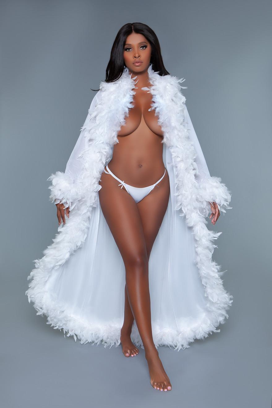 BW834W Glamour Robe White