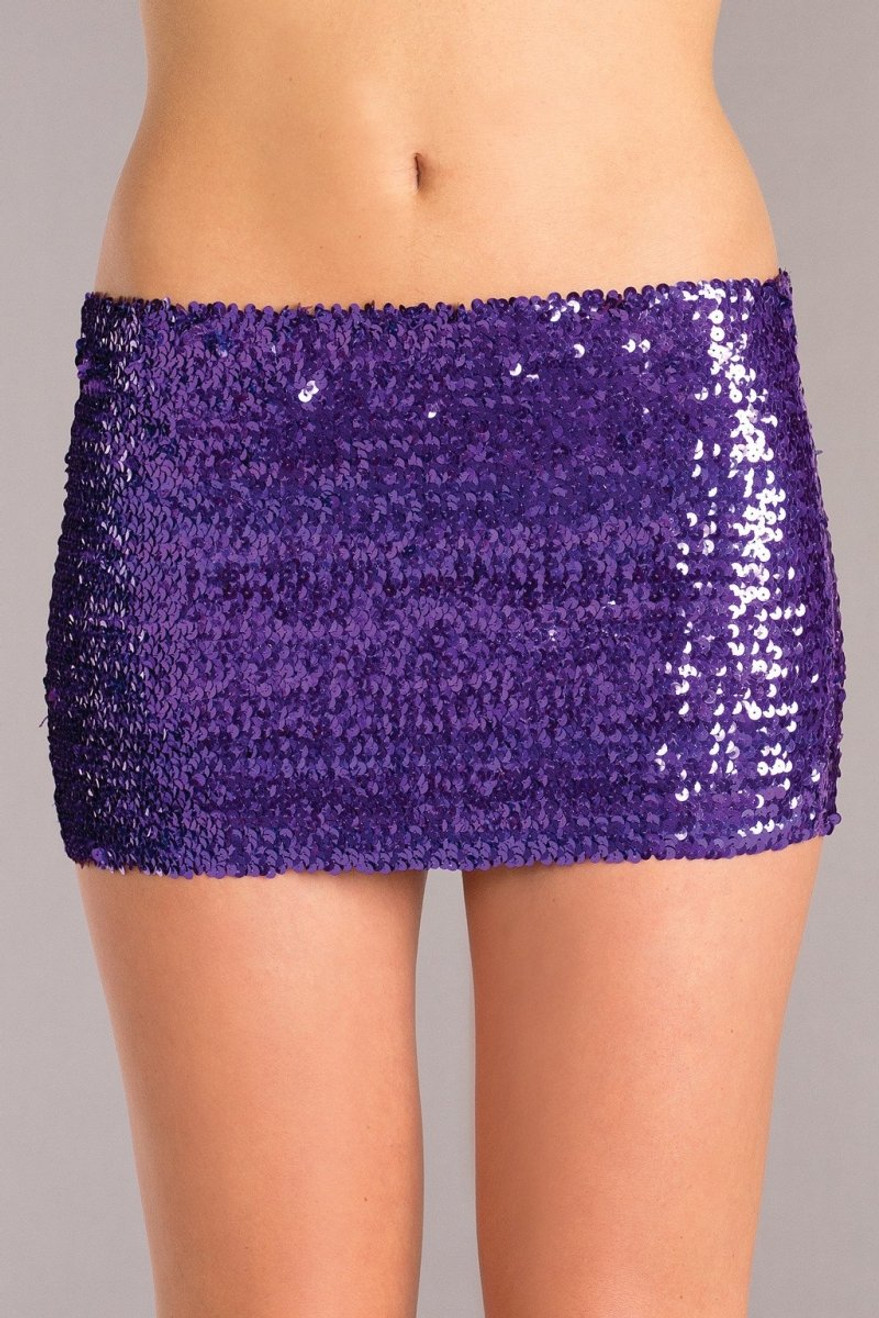 BW1677PR Sequin Skirt - Purple