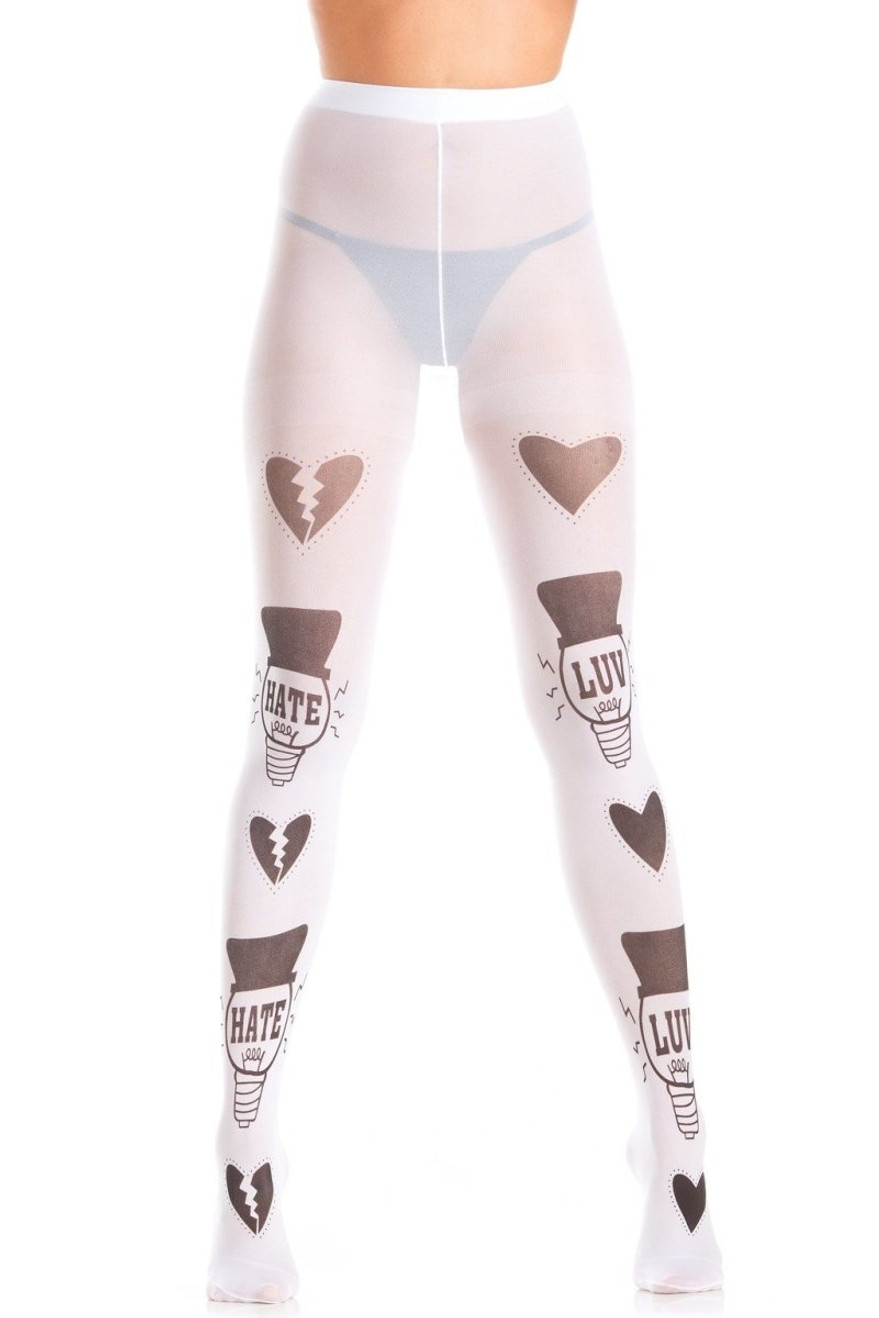 BW411 Love And Hate Pantyhose