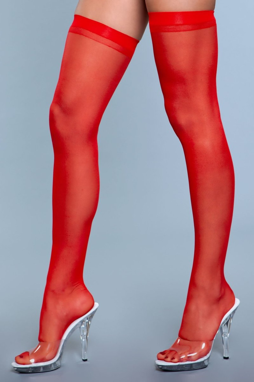 1918 Best Behavior Thigh Highs Red