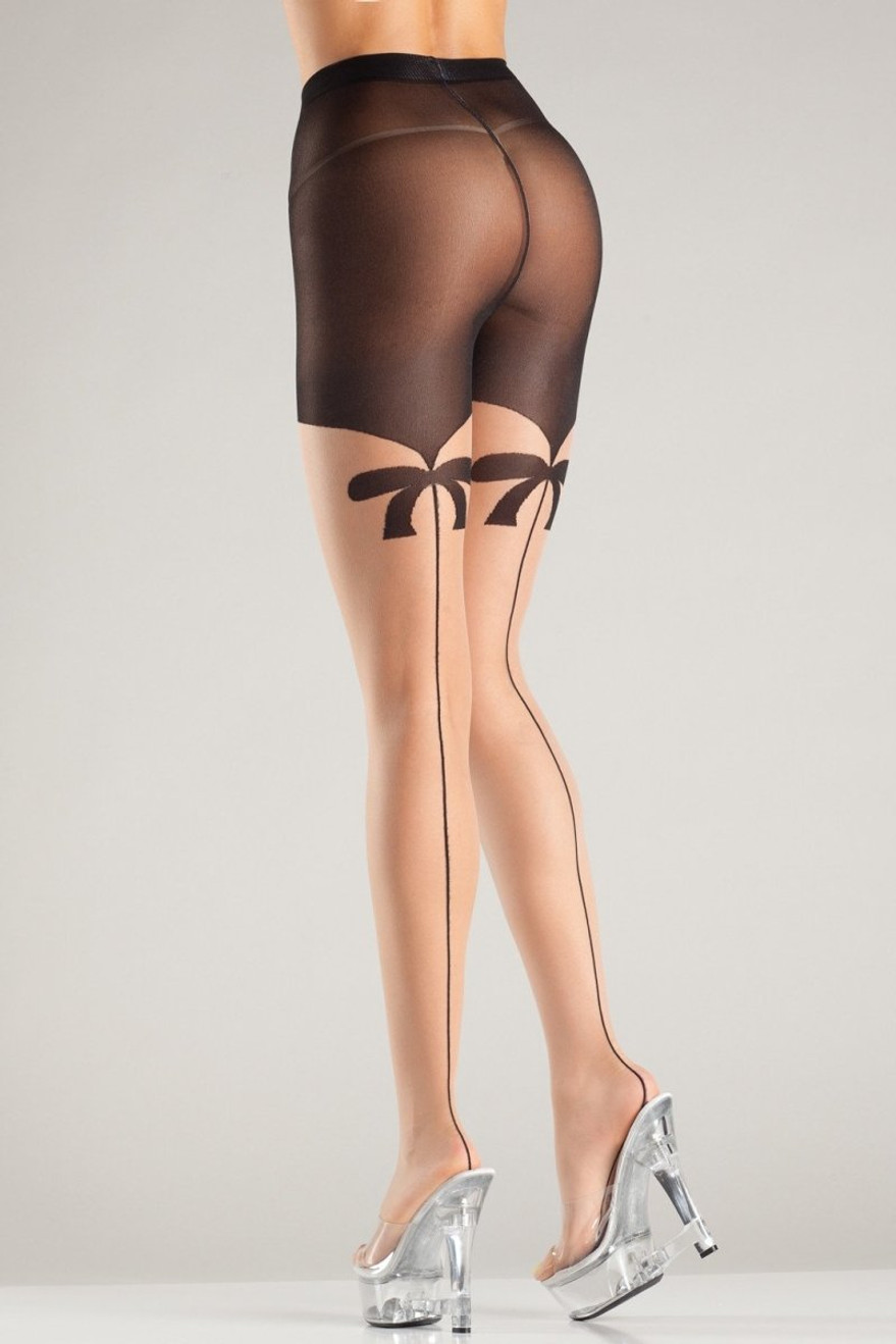BW707 Ask A Bow Me Pantyhose