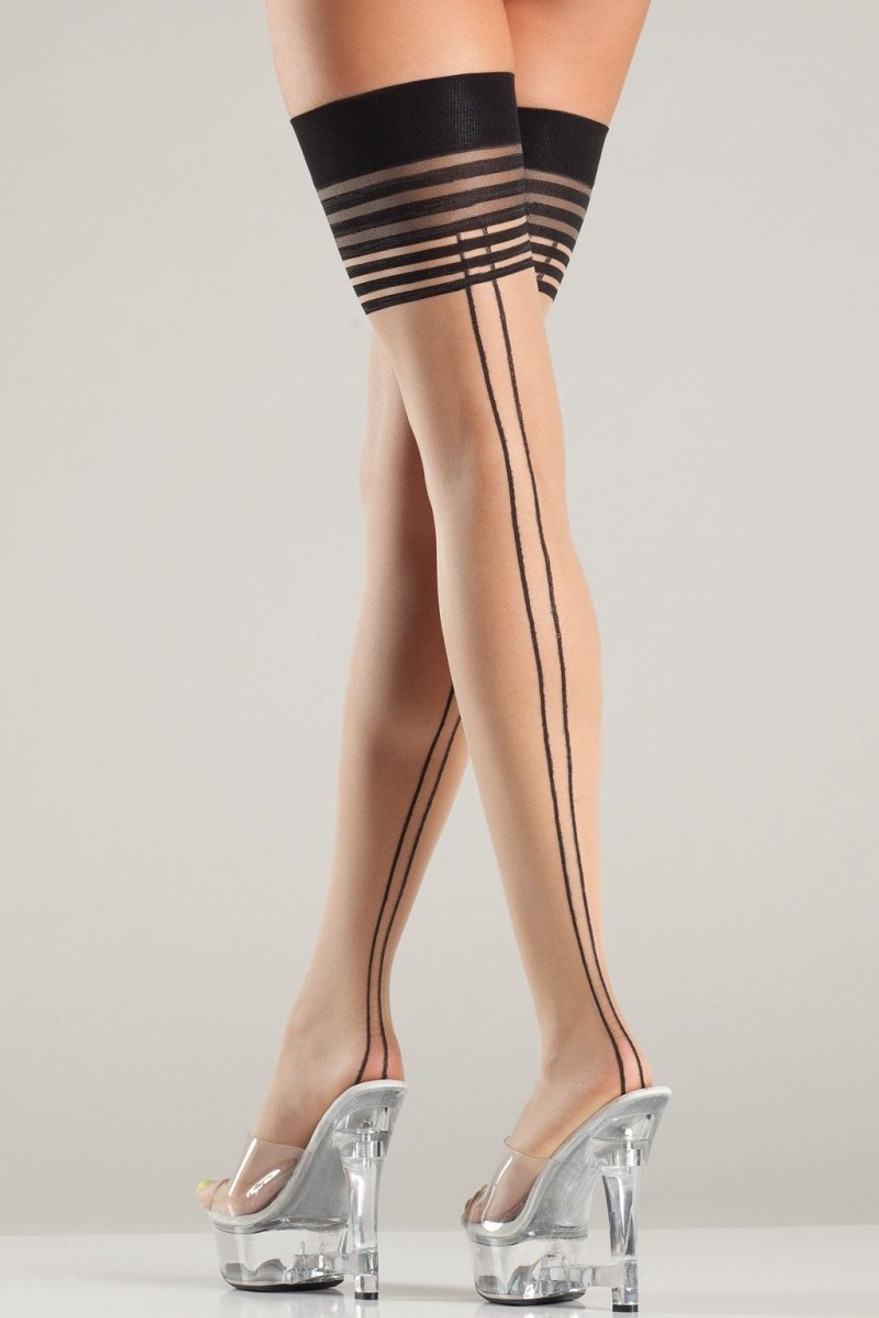 BW712 Layered Lines Thigh Highs