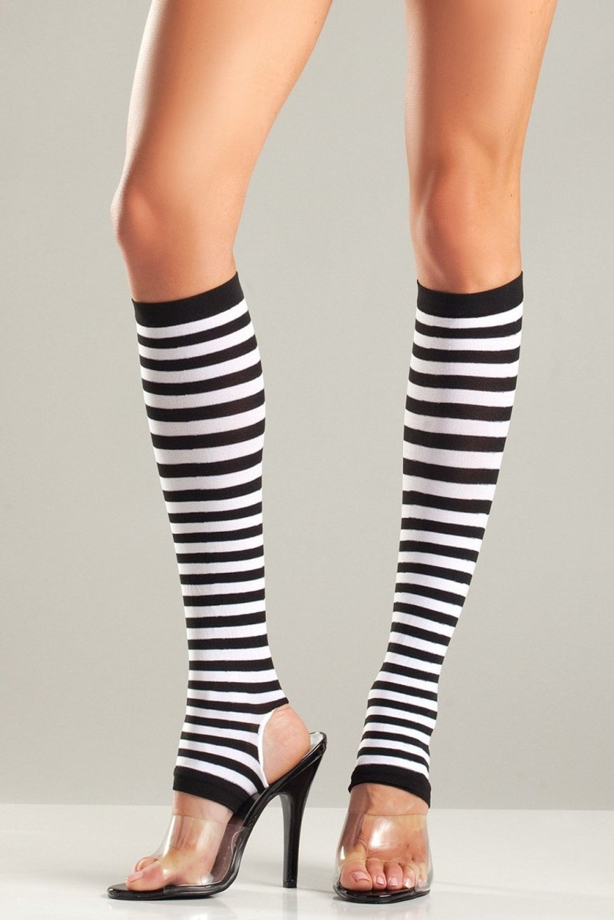 BW651 Striped Stirrup Knee Highs