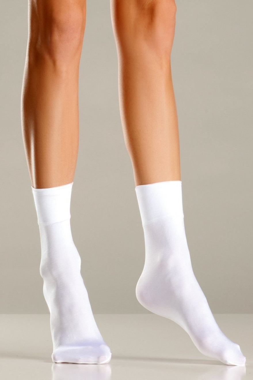 BW699 Nylon Ankle Socks White