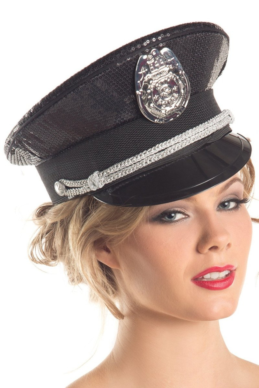 BW217 Sequin Police Hat