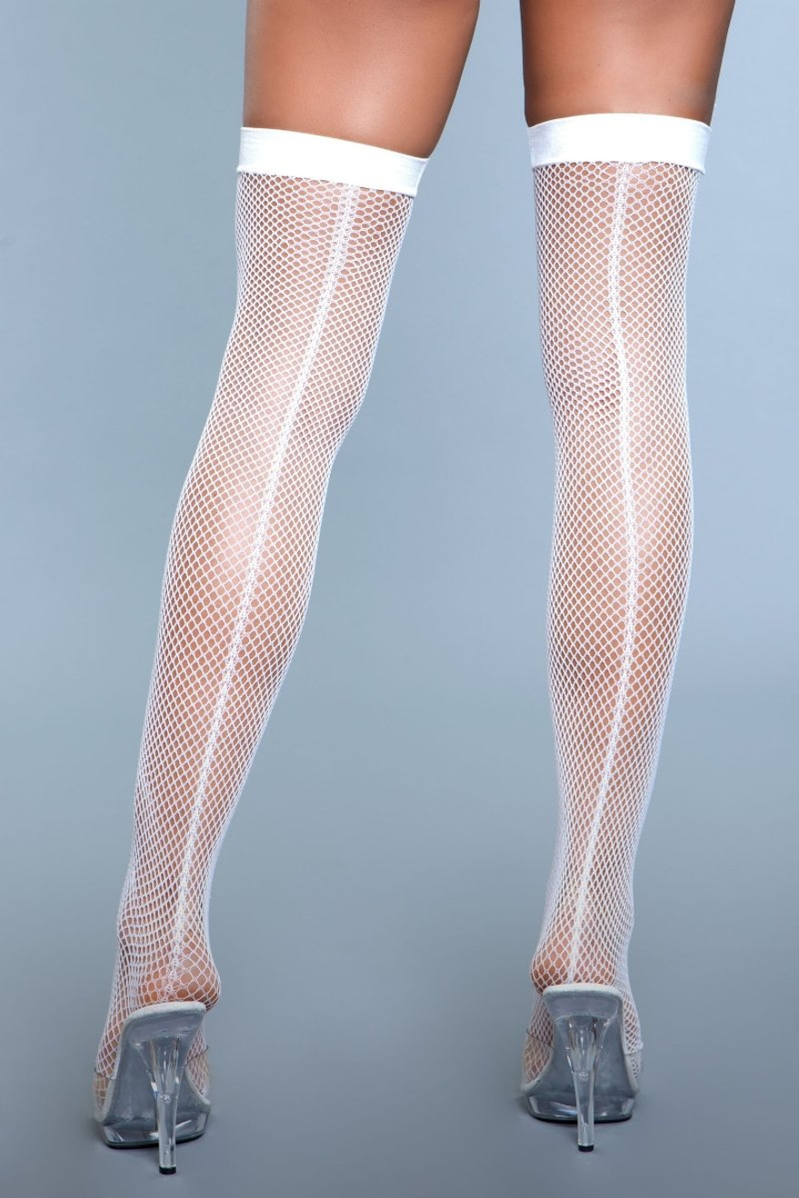 1915 Great Catch Thigh Highs White