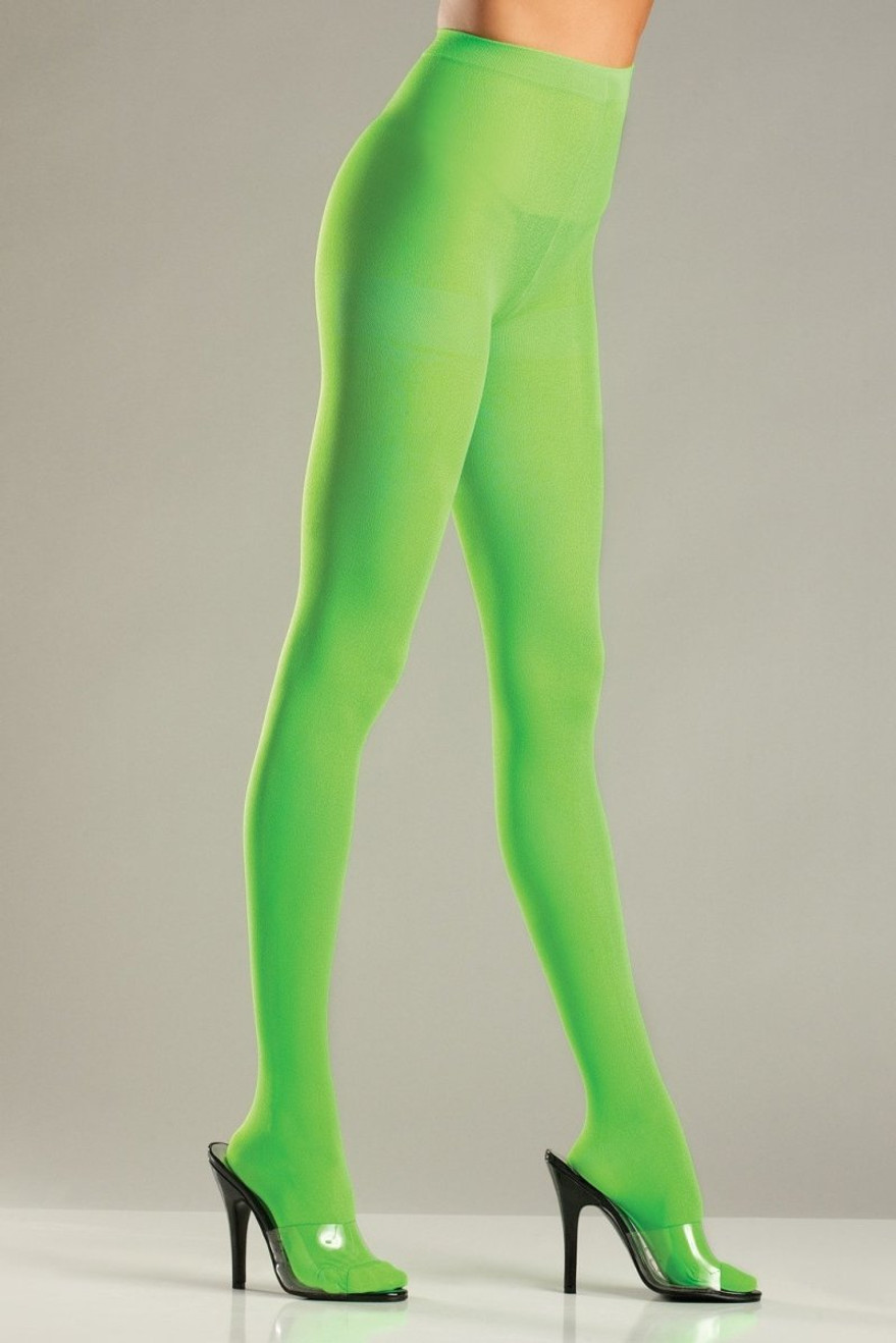 BW620LG Opaque Pantyhose - Lime Green