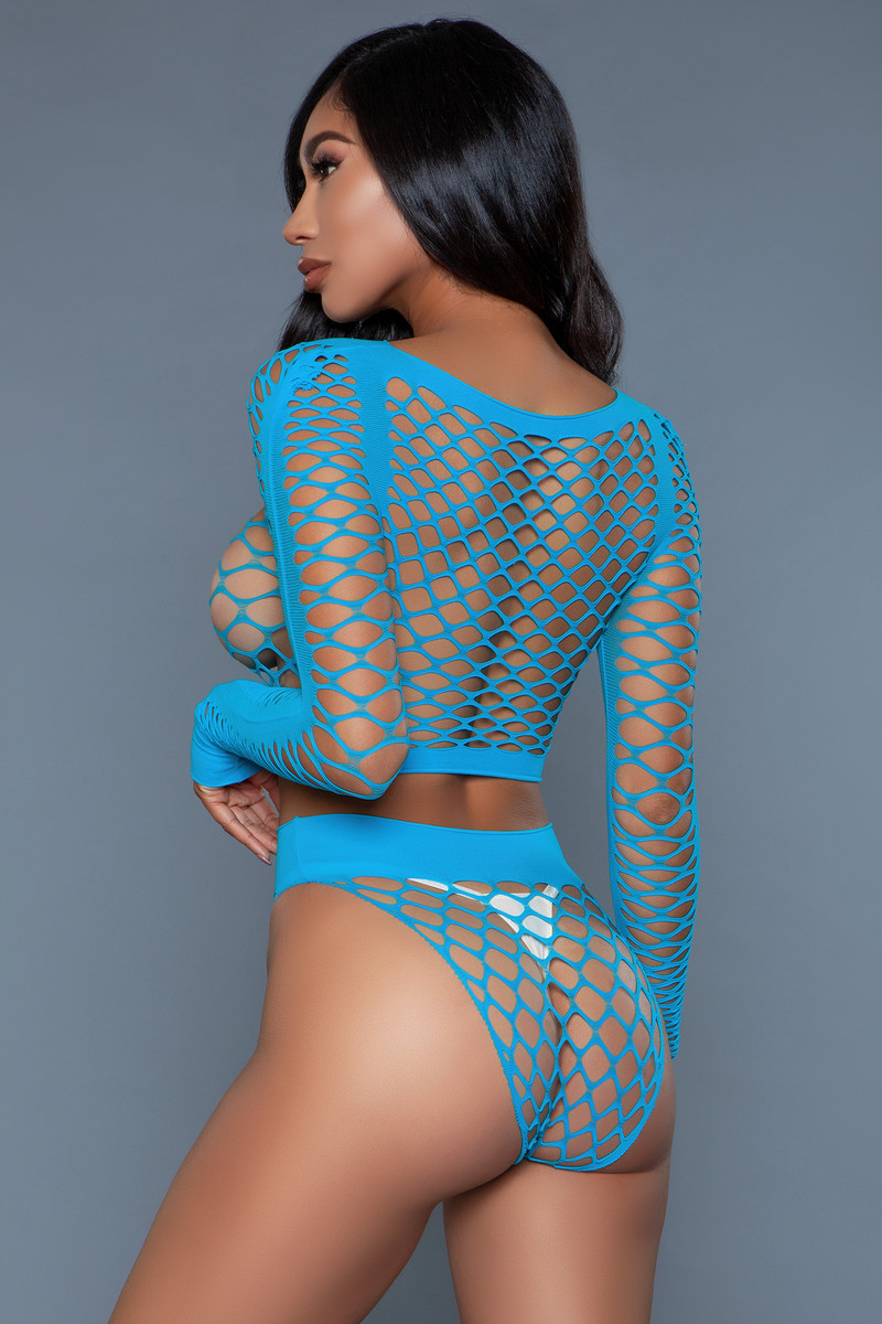 2155 Play With Me Bodystocking Turquoise