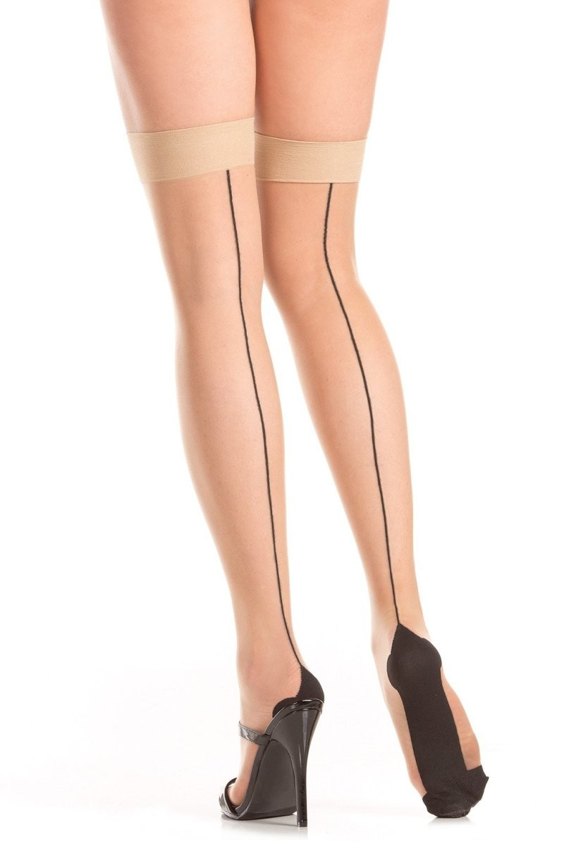 BW790 Back Seam Nude Thigh Highs
