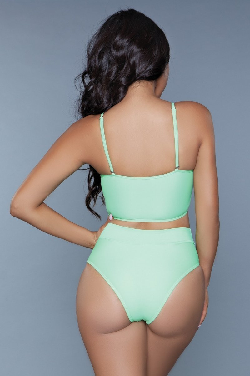 1986 Chanity Swimsuit Neon Green