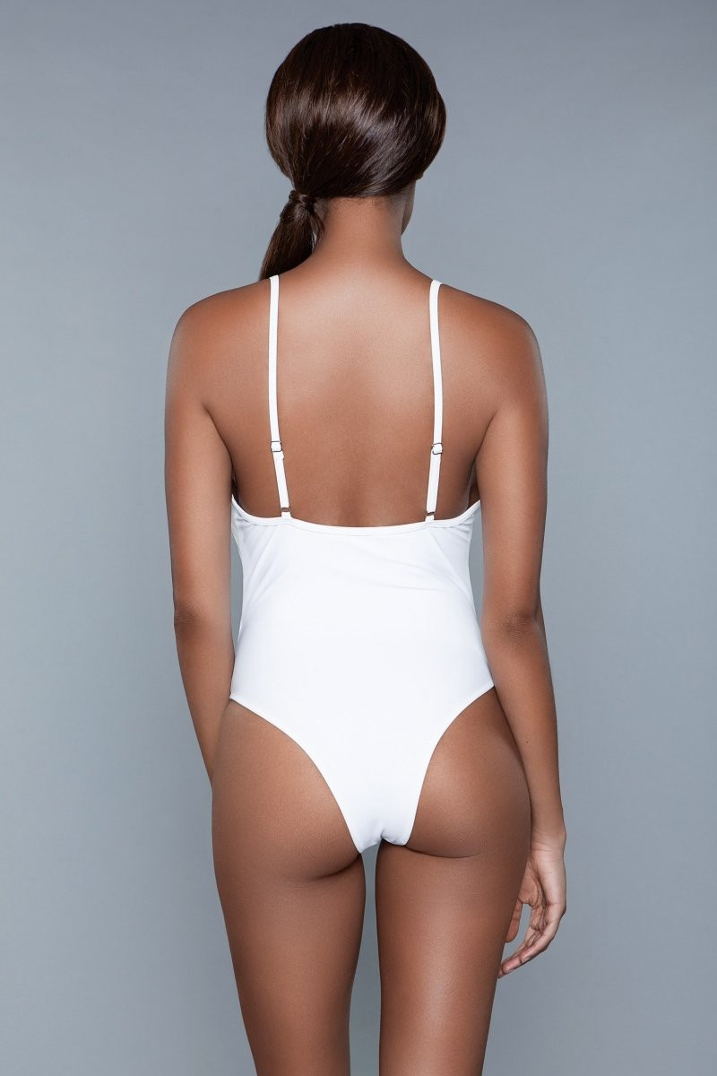 1983 Delaney Swimsuit White