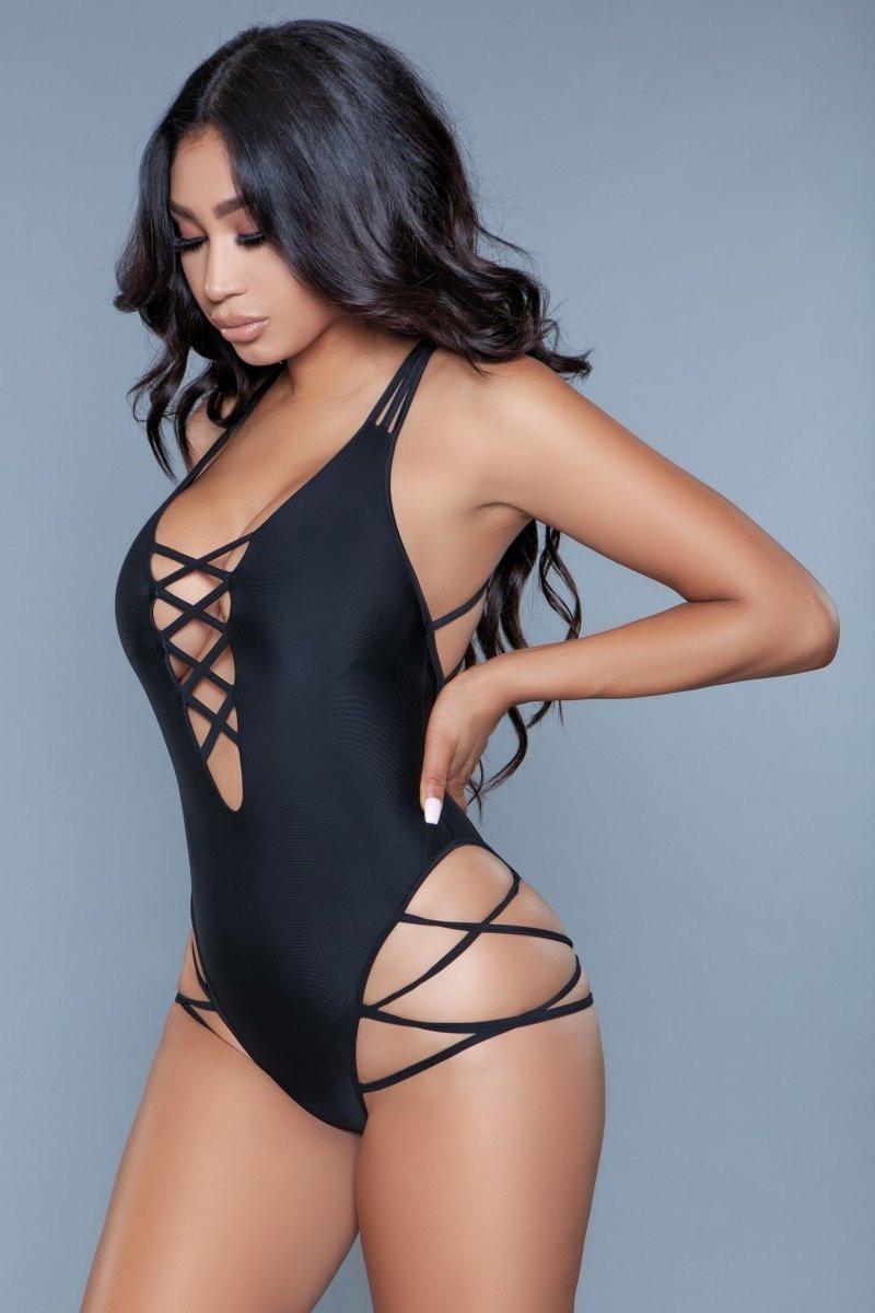 1977 Amaya Swimsuit Black