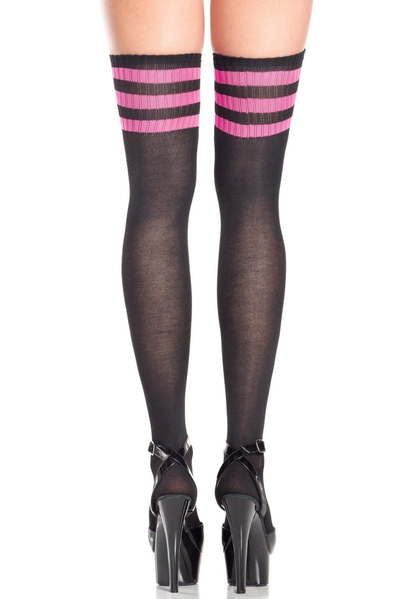 BW645HP Athletic Ribbed Thigh Highs