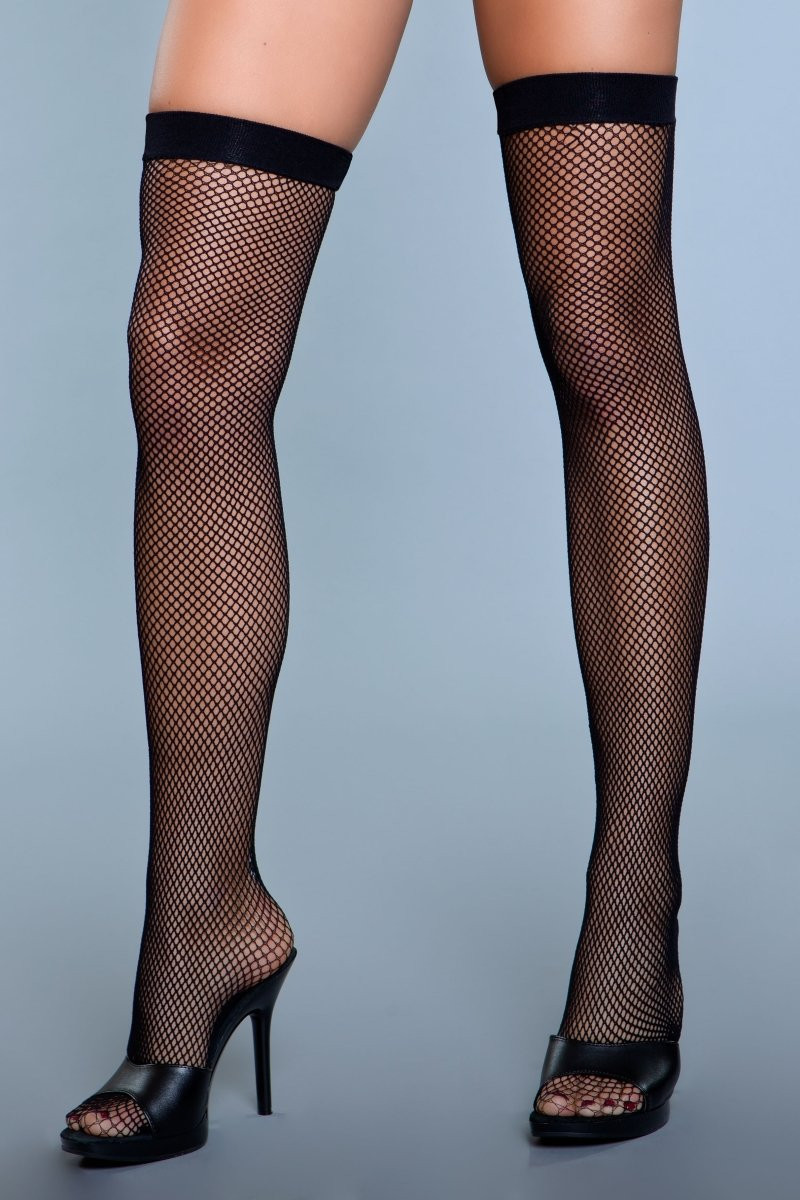 1915 Great Catch Thigh Highs Black