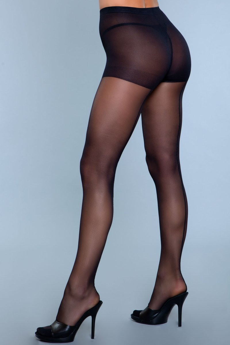 1926 Walk Right Out Pantyhose Black