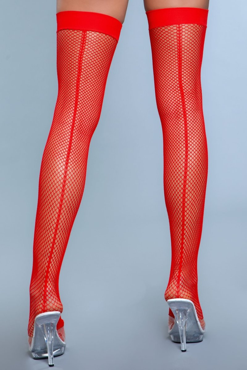 1915 Great Catch Thigh Highs Red