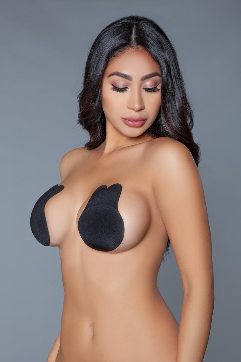 2036 Bunny Nipple Cover Black