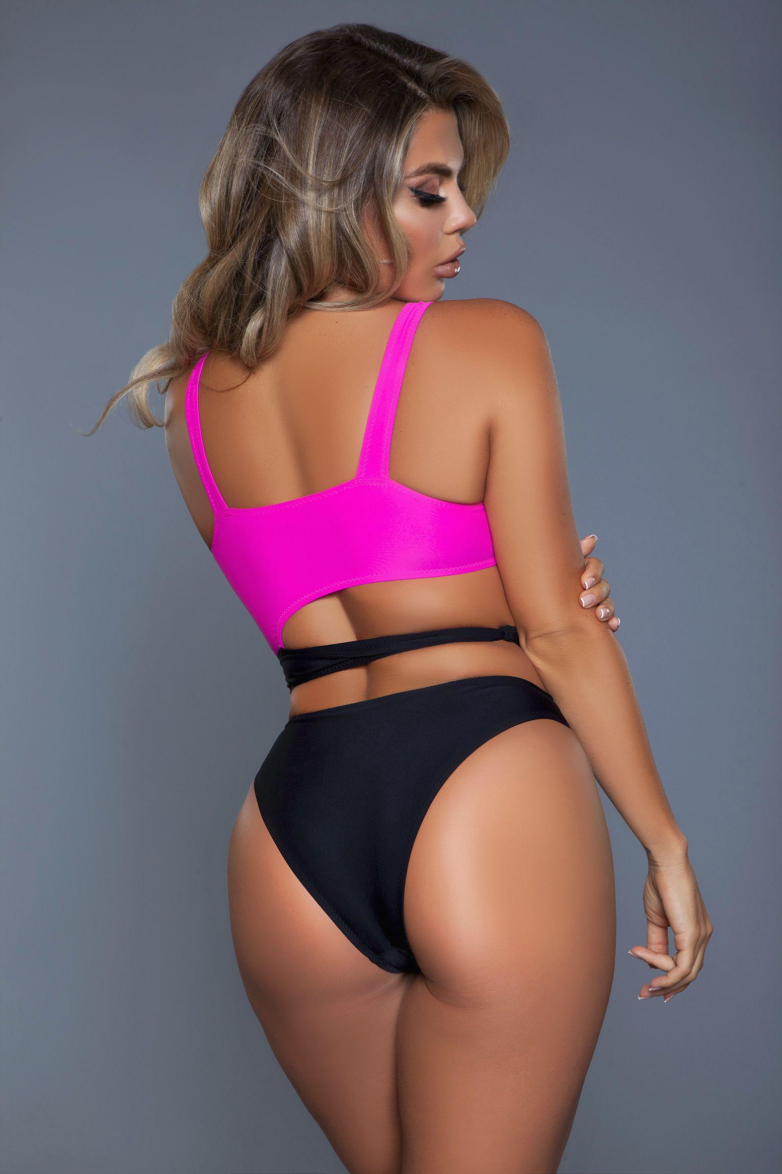 2110 Clara Swimsuit Black/Pink