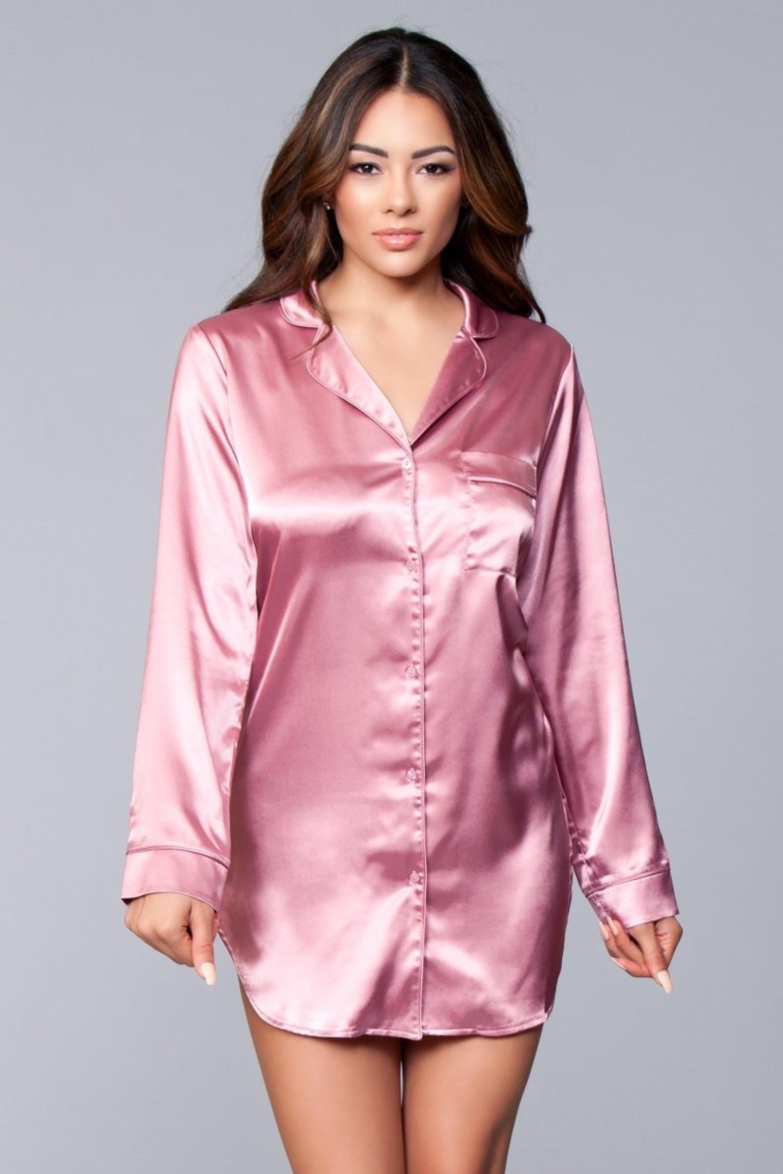 BW1788DP Kimberly Satin Sleepshirt