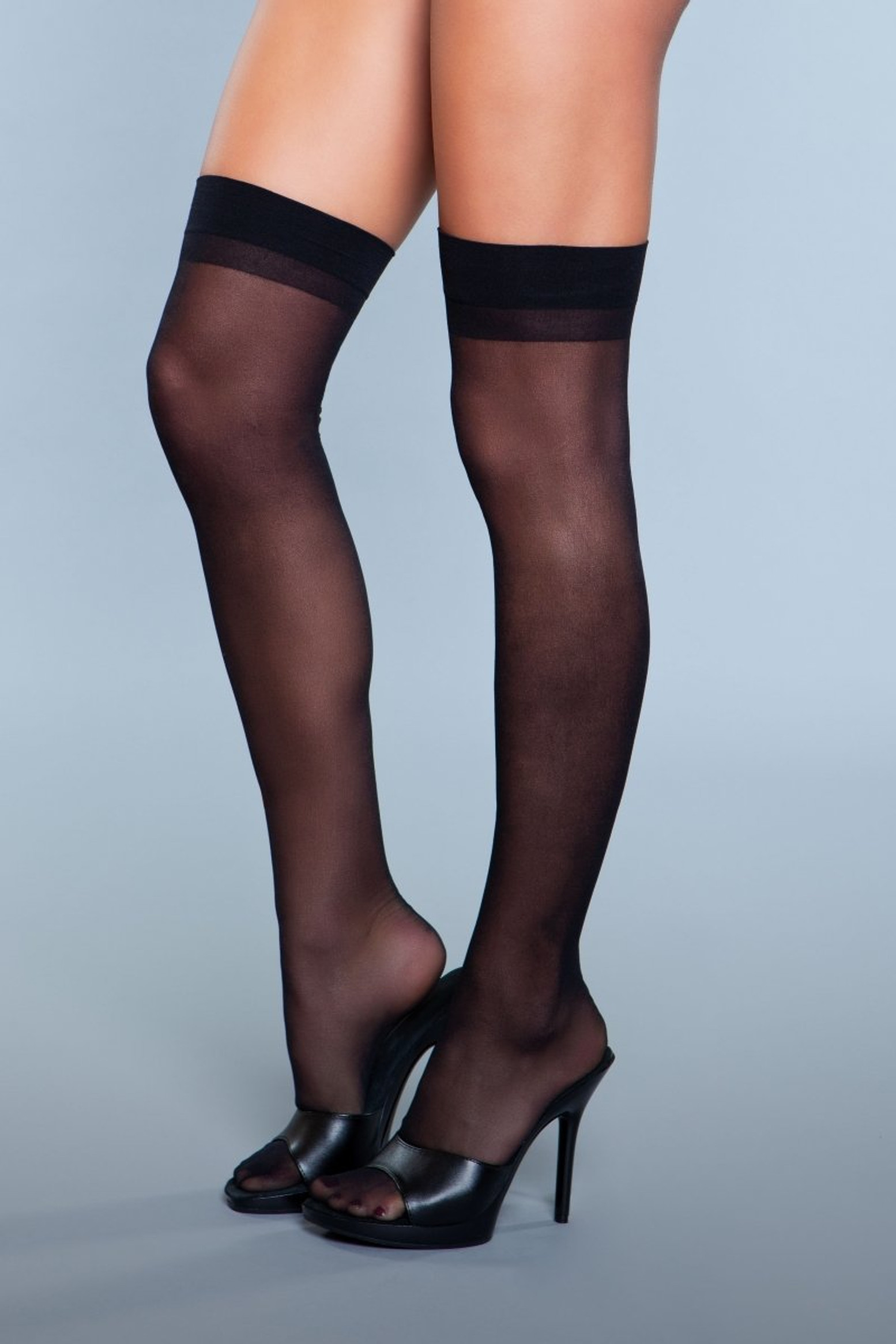 1911 Favorite Day Thigh Highs Black
