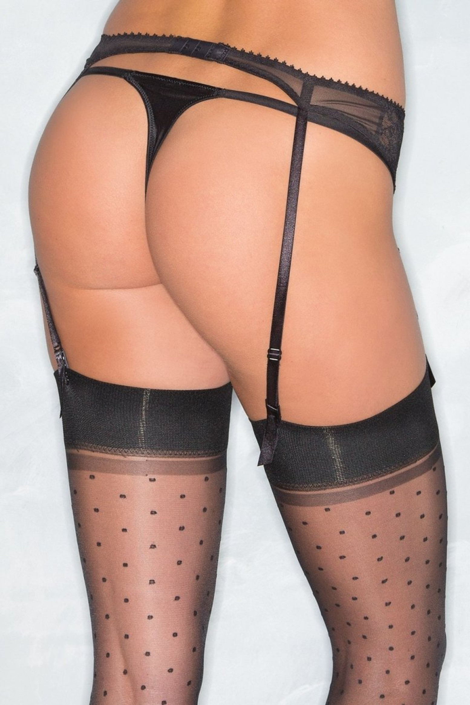 BW1539BK Lace Garter Belt - Black