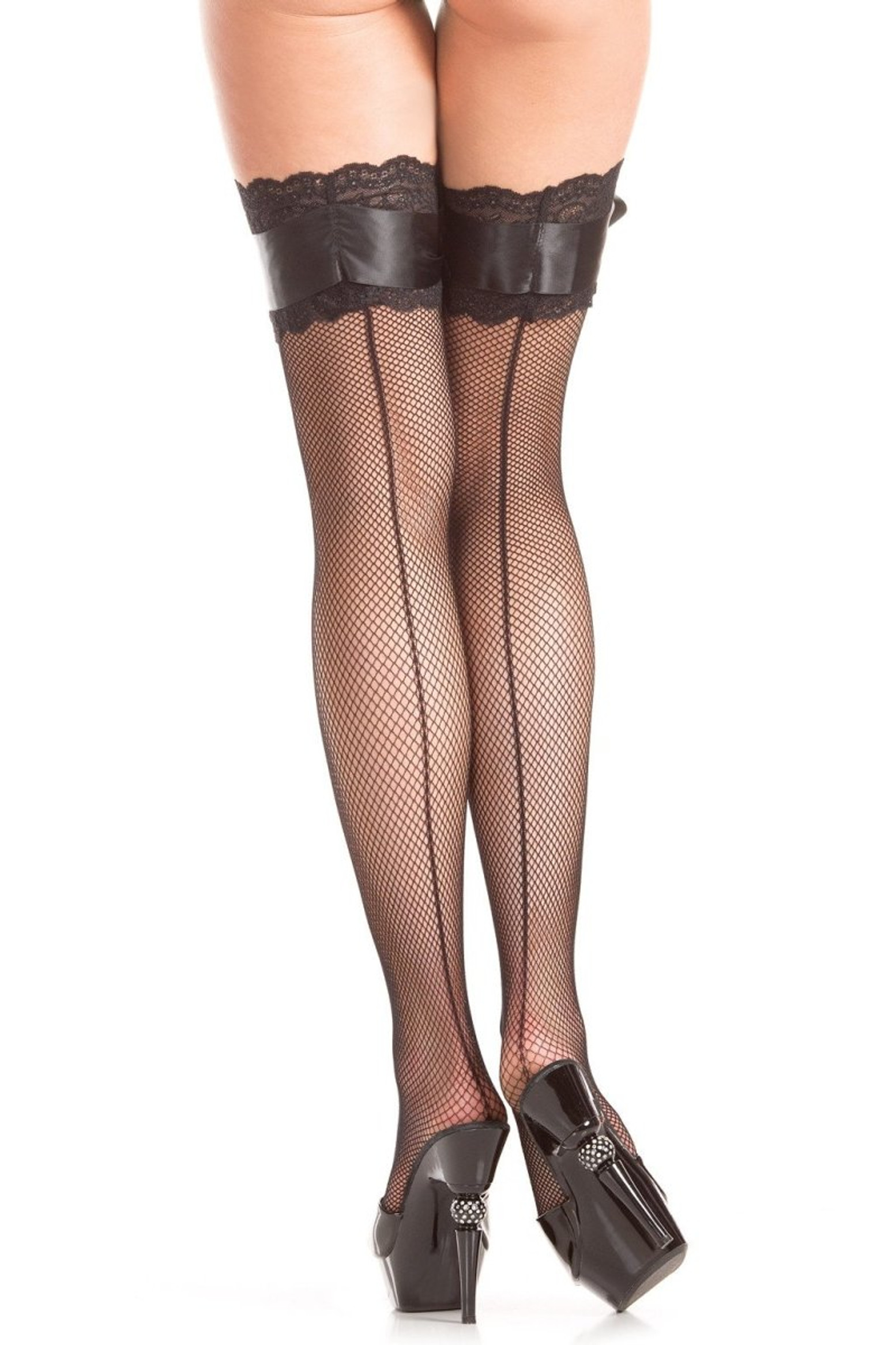 BW415 Bow And Arrow Thigh Highs