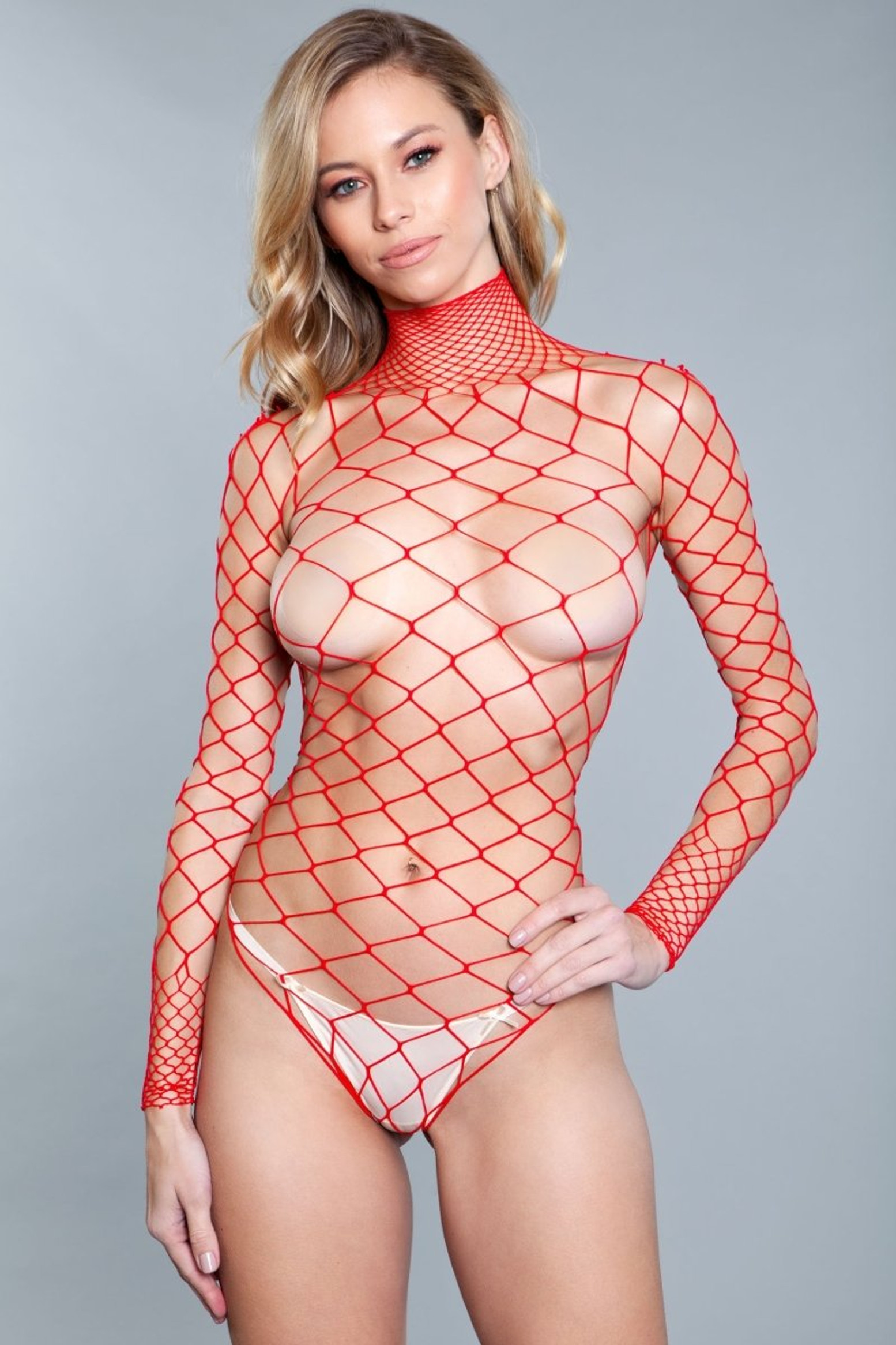 1909 Dancing All Night Bodystocking Red