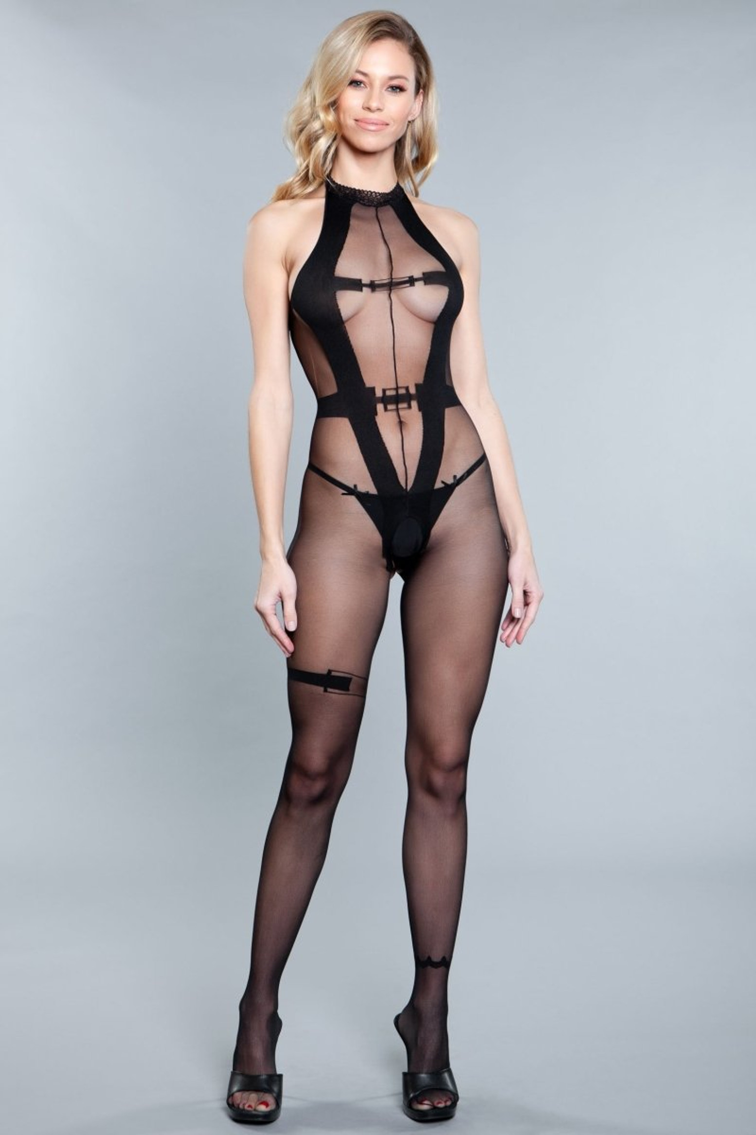 1908 Wine And Rose Petals Bodystocking