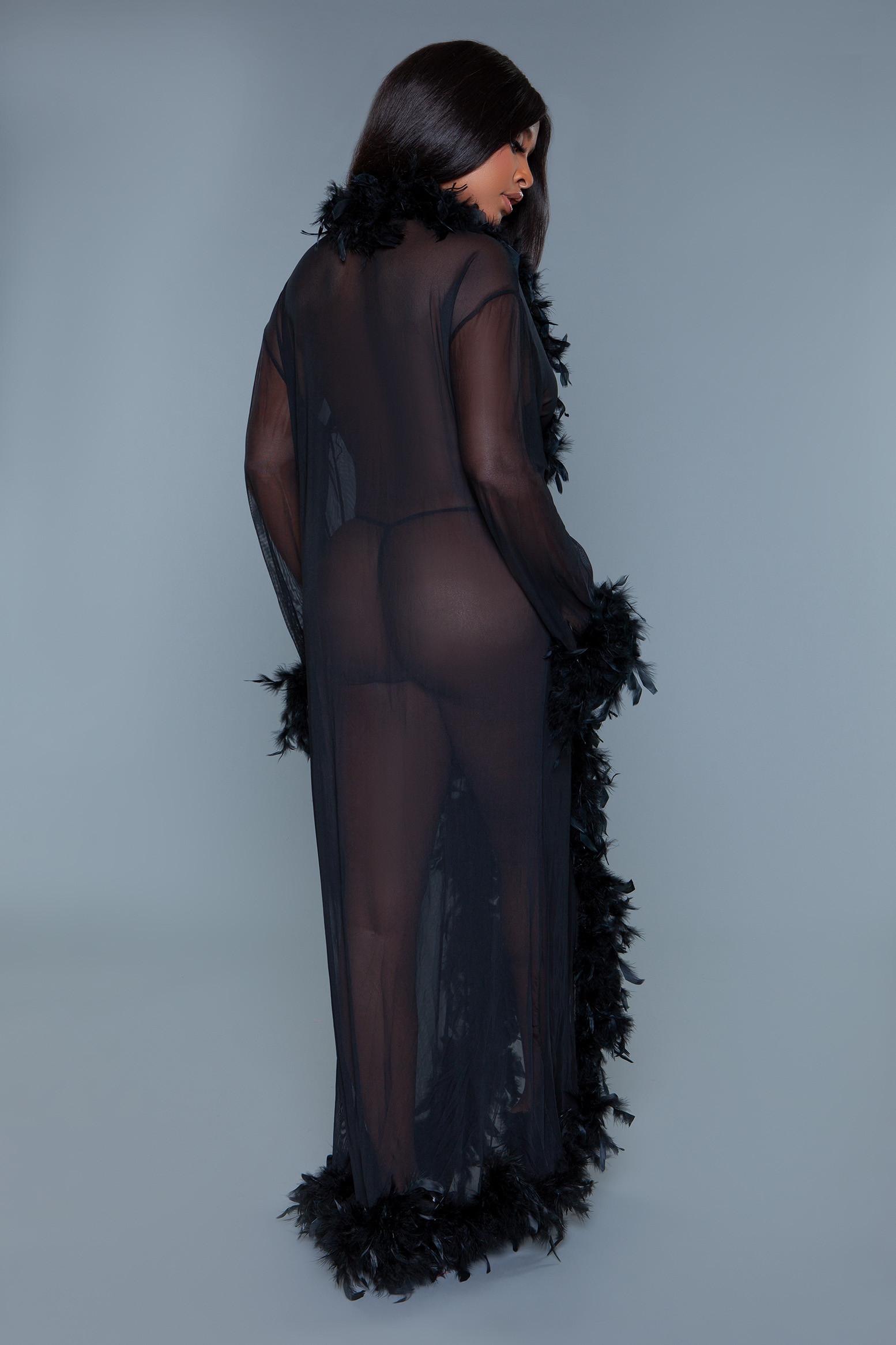 BW834B Glamour Robe Black
