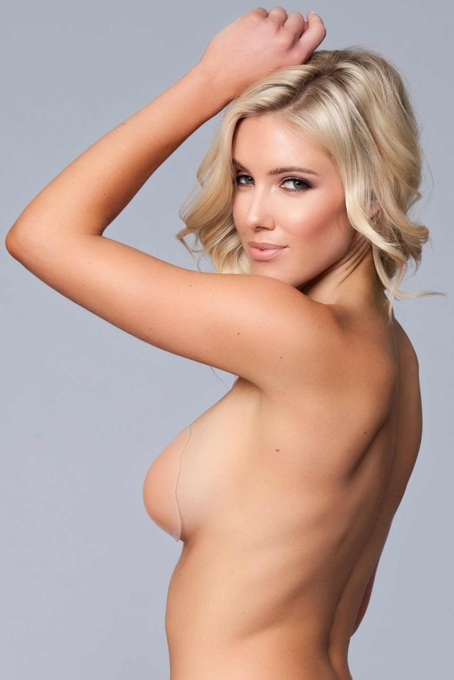 BWXW034ND Silicone Tie Up Bra - Nude
