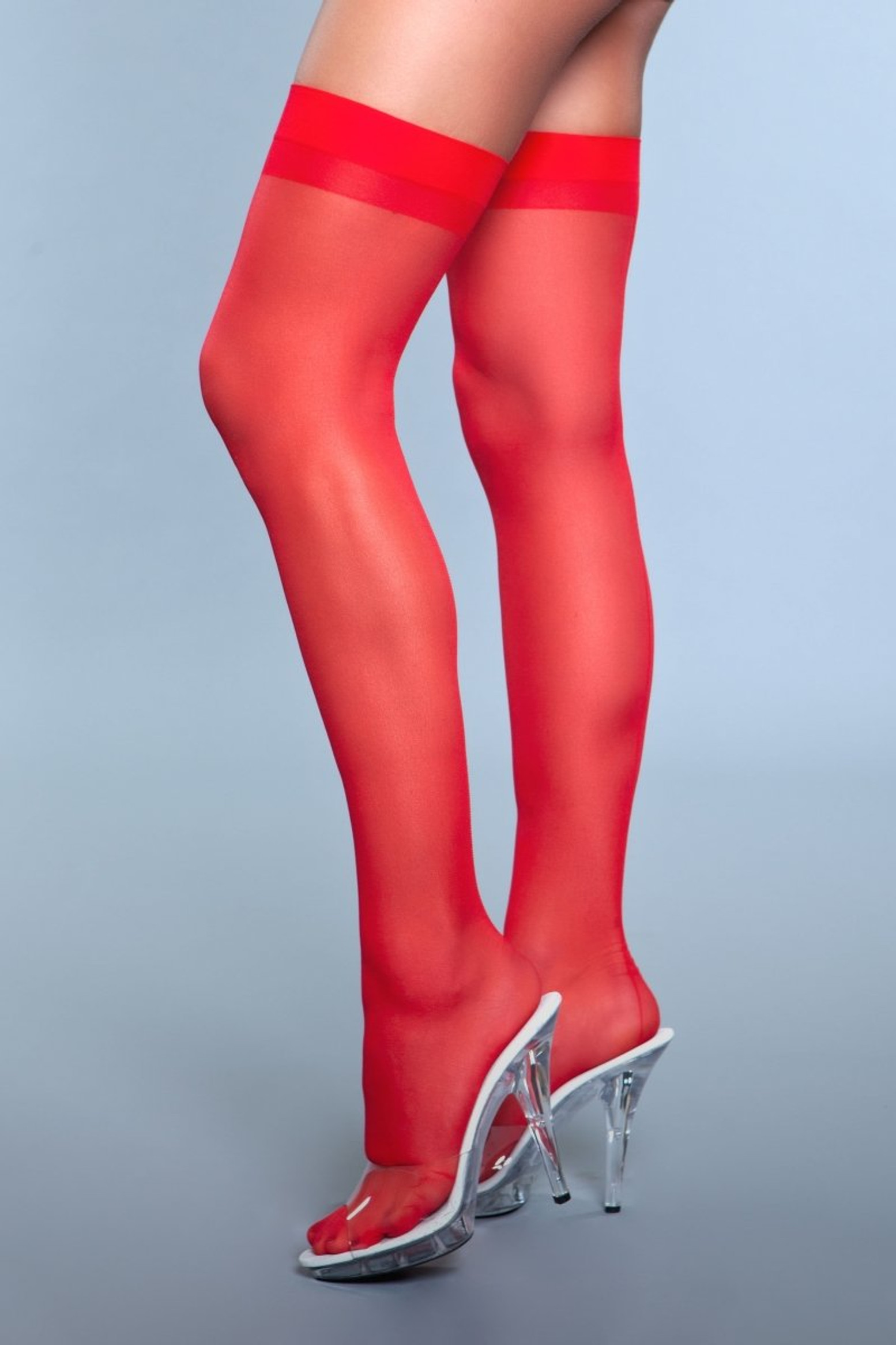 1911 Favorite Day Thigh Highs Red
