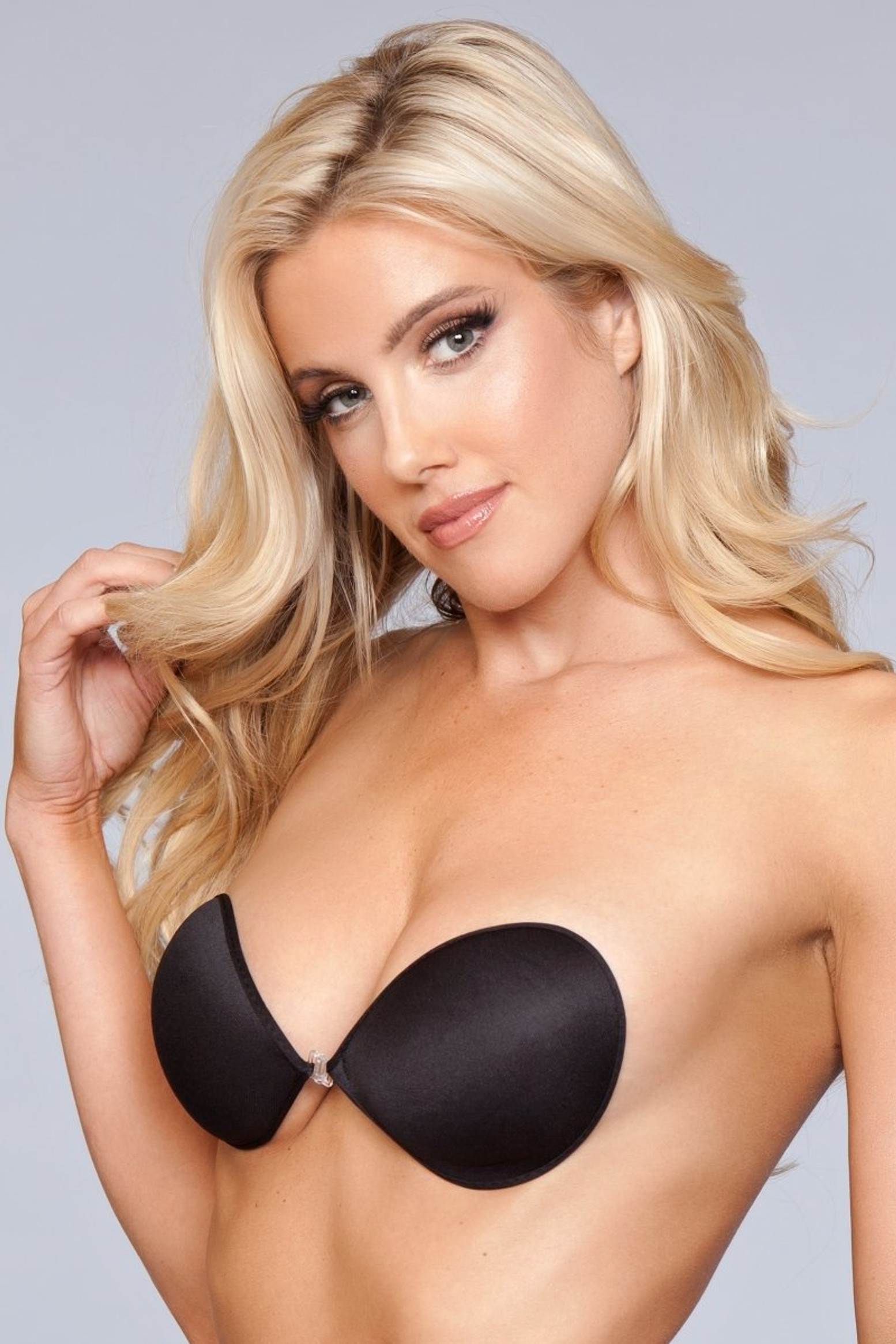 XB001 BK Smooth Invisible Bra - Black