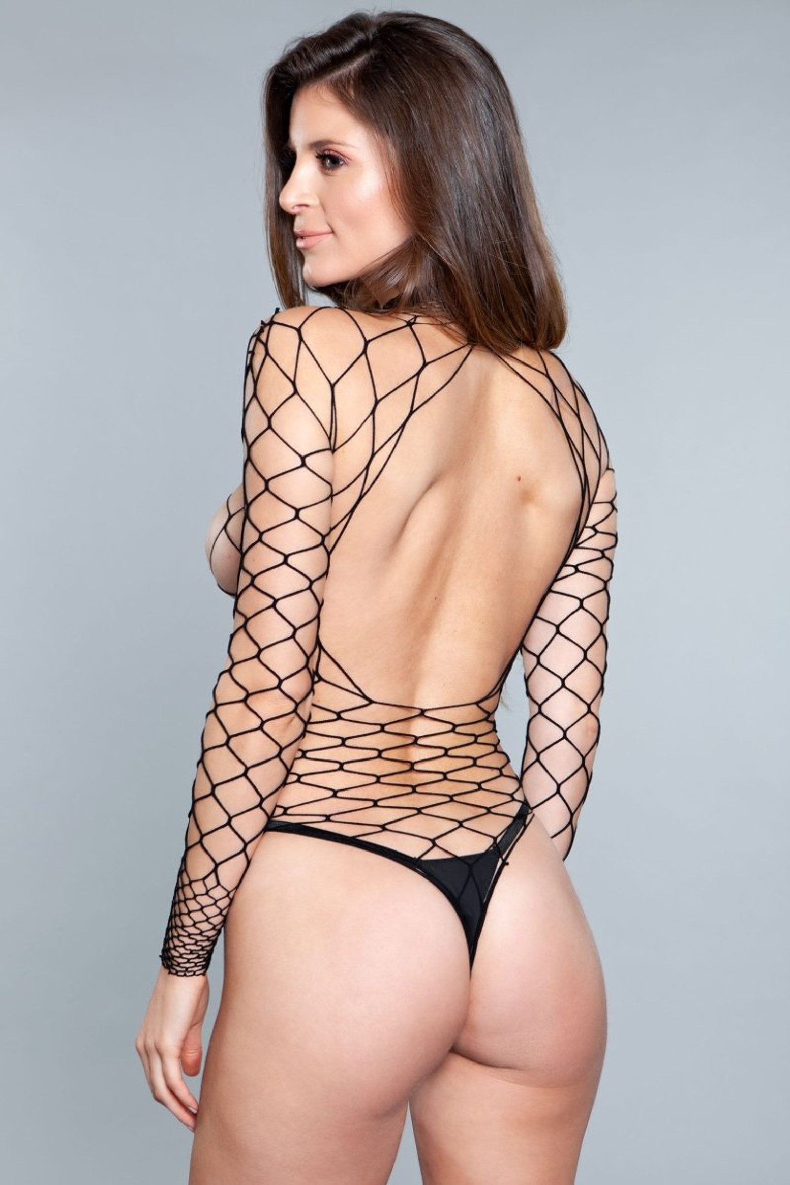 1909 Dancing All Night Bodystocking Black