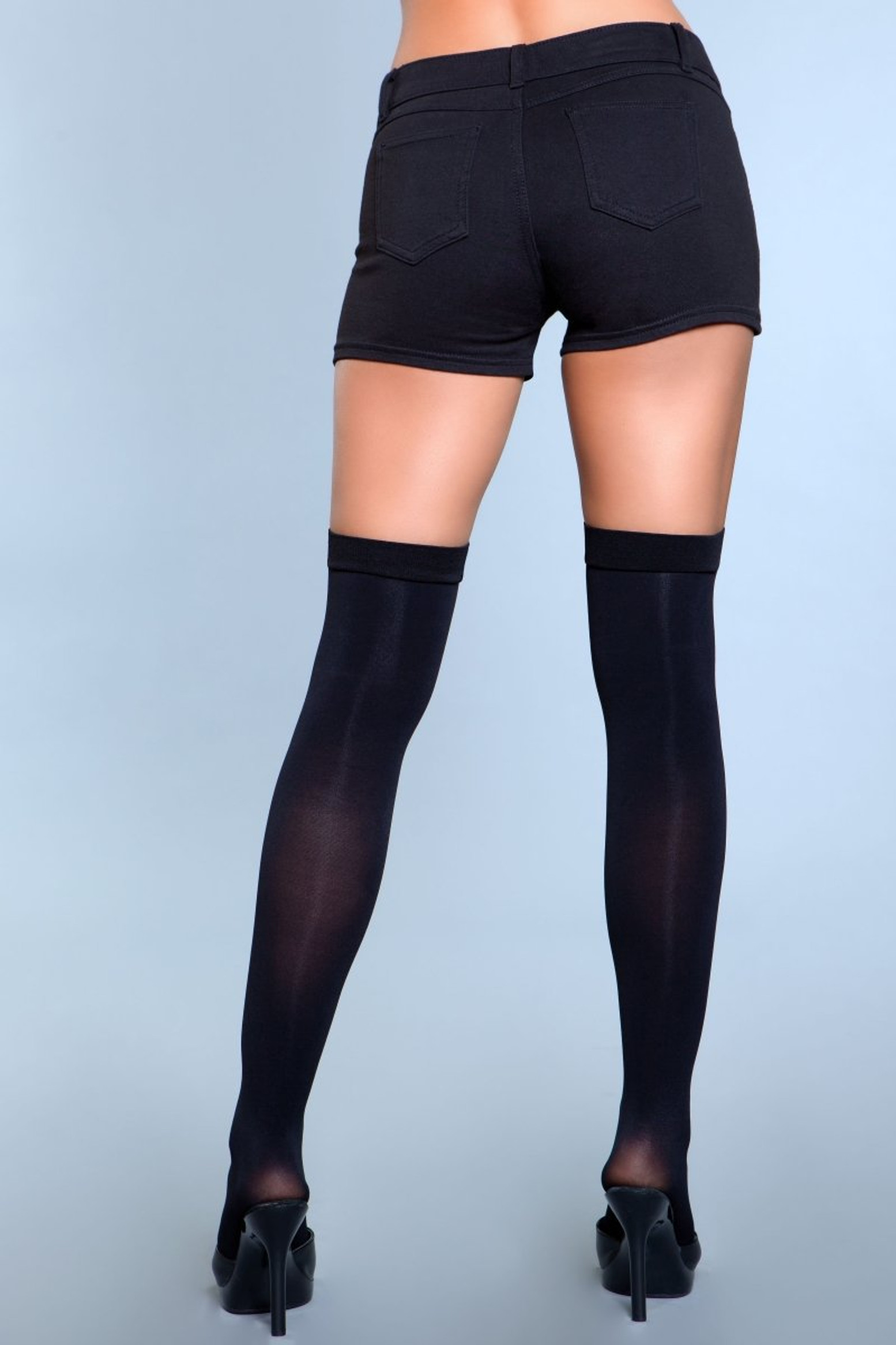 1929 Illusion Clip Garter Thigh Highs