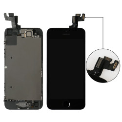 Complete LCD For iPhone 5S Touch Screen Digitizer Assembly +Home Button+Front Camera