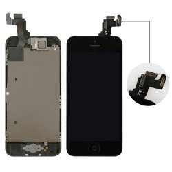 Complete LCD For iPhone 5C Touch Screen Digitizer Assembly +Home Button+Front Camera