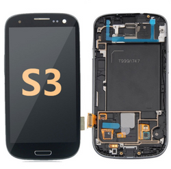 Back and front with Frame for Samsung Galaxy S3 LCD Black