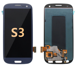 Back and front for Samsung Galaxy S3 LCD Blue