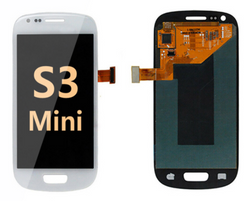 back and front for Samsung Galaxy S3 Mini LCD White