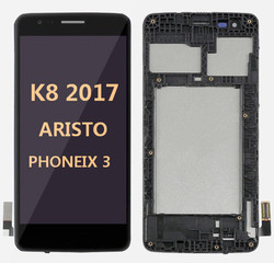 Lcd for LG K8 2017 (Aristo MS210)  with frame BLACK