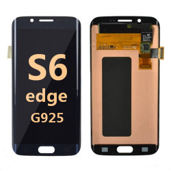 Back and front for Samsung Galaxy S6 Edge G925 LCD black