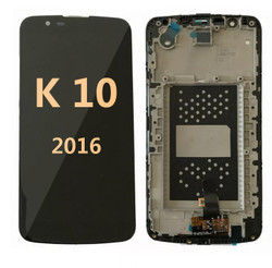 Lcd for LG K10 2016 with frame  BLACK