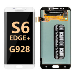 Back and front for Samsung Galaxy S6 Edge Plus G928 LCD white