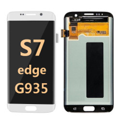 Back and front for Samsung Galaxy S7 Edge G935 LCD white