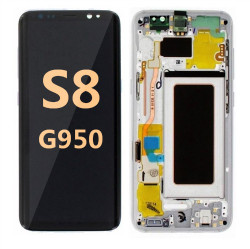 Back and front with Frame for Samsung Galaxy S8 G950  Arctic sliver