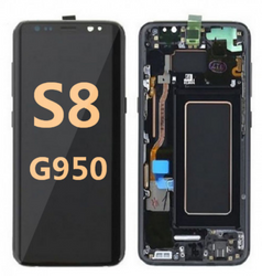 Back and front with Frame for Samsung Galaxy S8 G950 midnight black
