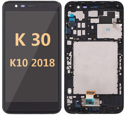 Lcd for LG K30 K10 2018 with  frame BLACK