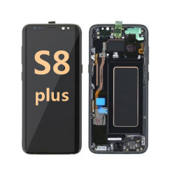 back and front with Frame for Samsung Galaxy S8 plus G955 LCD black