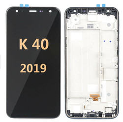 Lcd screen for LG K40 X420 2019 with  frame BLACK