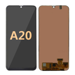 Back and front for Samsung Galaxy A20 LCD Black